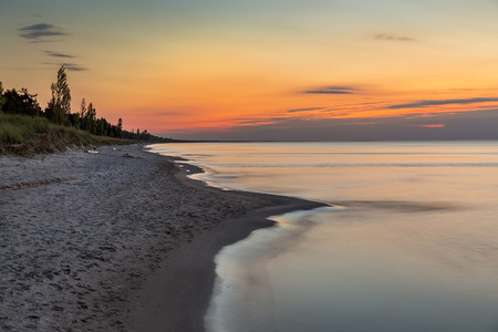 pinery: Lake Huron Beach after Sunset - Pinery Provincial Park, Ontario, Canada