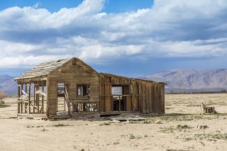 Abandoned Farm House in the Mojave Desert near Joshua Tree, California
