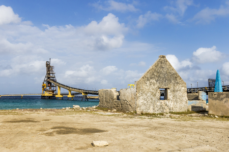 Salt Pier and Ruins on the Caribbean Sea - Bonaire, Netherlands Antilles