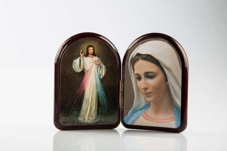 vierge marie: J�sus Mis�ricordieux et Notre-Dame de Medjugorje ic�nes
