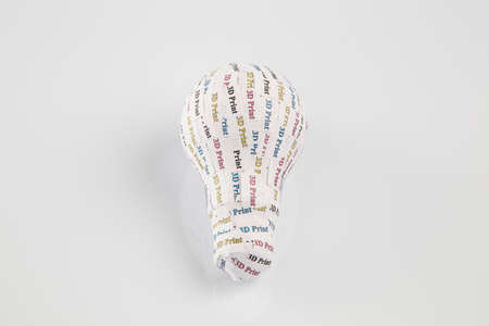 prototypes: CYMK 3D Printing concept  lightbulb, from idea to solid model