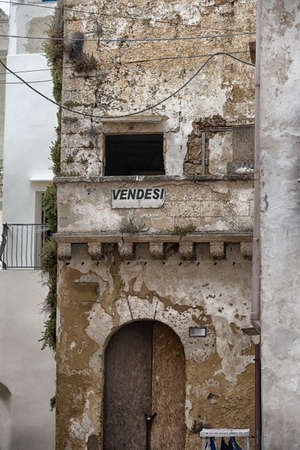 On Sale house in the old town of Gallipoli (Le)) in the southern of Italy photo