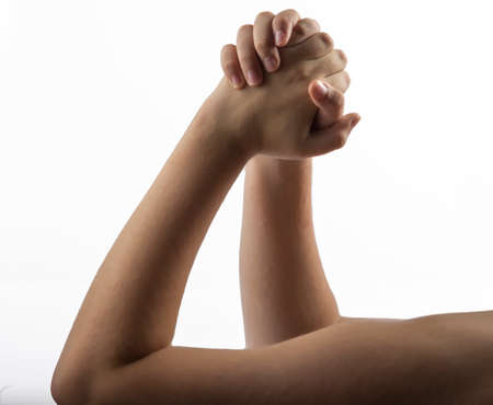 middlefinger: Young hands make a embracing hands  gesture