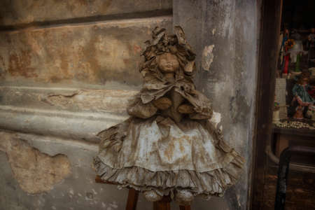 papiermache: This Papier-mache doll is a typical sample of the artisan tradition in Lecce Stock Photo
