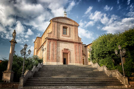 xv century: The Shrine of the Very  Holy Crucifix in Longiano is a Franciscan sanctuary located in the hinterland of Romagna, in the Diocese of Cesena-Sarsina (XV century)