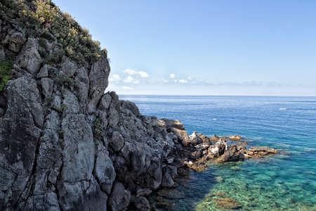tyrrhenian: A view of SantAngelo in Ischia island in Italy