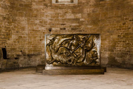religiosity: The interiors of Saint George Basilica in Prague: ancient carving art