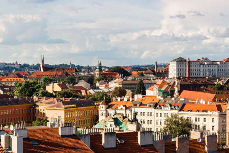 Scenic view of the historical center of Prague photo