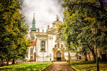 Exterior façade of monastery of Royal Canonry of Premonstratensians at Strahov Editorial