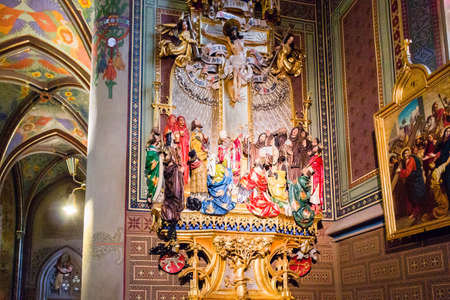 interiors: Interiors of the Basilica of St Peter and St Paul in Vysehrad in Prague