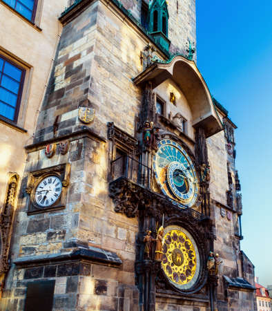 The medieval astronomical clock in the Old Town square in Prague