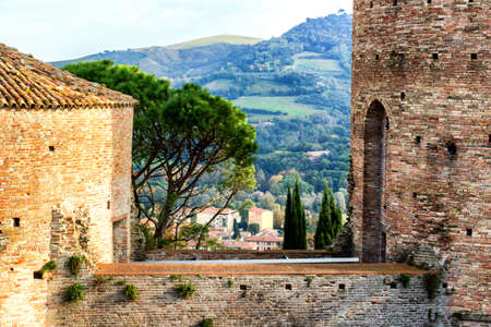 brickwalls: The brickwalls of the medieval Fortress of Venetians in Brisighella