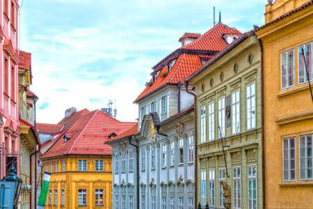 Streets and buildings of Mala Strana quarter in Prague
