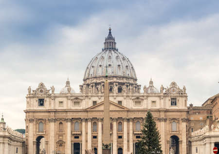 basilica of saint peter: Saint Peter, Basilica in Vatican City: dome and facade