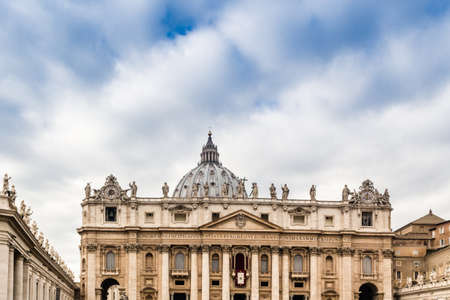 saint peter: Saint Peter, Basilica in Vatican City: dome and facade