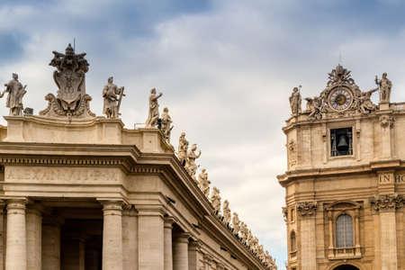 saint peter: Saint Peter, Basilica in Vatican City: architecture details
