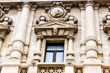 historical building: Windows of historical building in the center of Rome