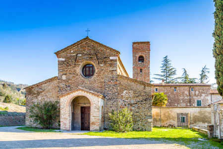 evocative: The Romanesque style church of St John at the eighth, also known as  Church of Tho in Northern Italy offers a magical atmosphere full of Spirituality and trust