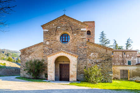 romanesque: The Romanesque style church of St John at the eighth, also known as  Church of Tho in Northern Italy offers a magical atmosphere full of Spirituality and trust