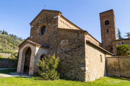 religiosity: The Romanesque style church of St John at the eighth, also known as  Church of Tho in Northern Italy offers a magical atmosphere full of Spirituality and trust