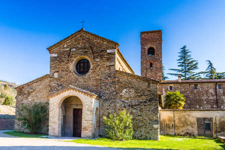 religiosity: The Romanesque style church of St John the Baptist at the eighth, also known as  Church of Tho in Northern Italy offers a magical atmosphere full of Spirituality and trust