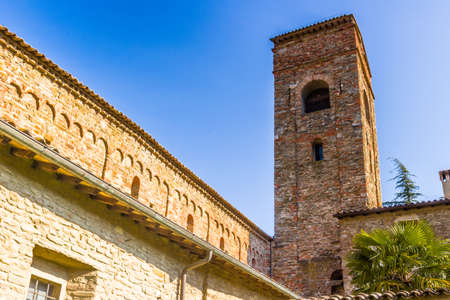 evocative: The Romanesque style church of St John the Baptist at the eighth, also known as  Church of Tho in Northern Italy offers a magical atmosphere full of Spirituality and trust