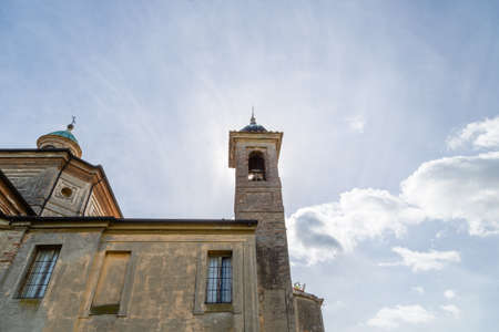 san giacomo: Historic feelings in the old architecture of the XVIII century Catholic church devoted to Saint James, private chapel of the Italian XVI century ruined palace, Palazzo San Giacomo in Russi, village near Ravenna in Northern Italy: