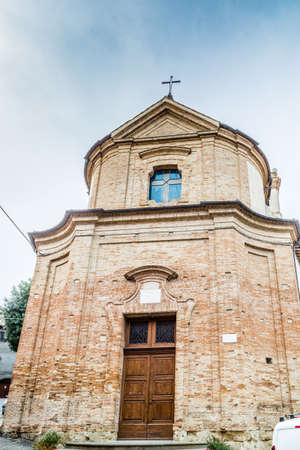 Facade of Catholic Church of San Silvestro in Bertinoro in Italy Archivio Fotografico
