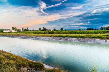 irrigation equipment: Channel to divert river water for irrigation of cultivated fields