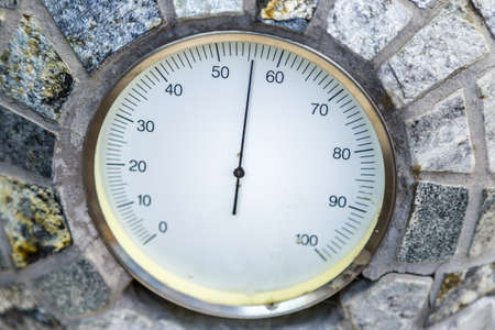 moisture in atmosphere according to analog hygrometer