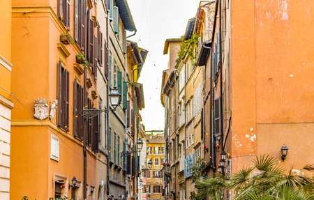 eternal: Rome the eternal city,alley and  architectural details, ancient monuments and historic buildings Stock Photo