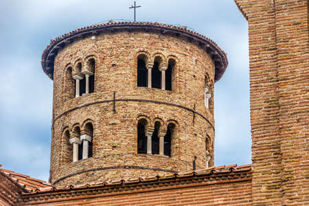 ninth: cylindrical bell tower of the ninth century with mullioned windows