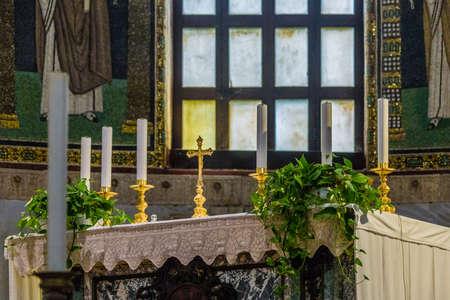 christian altar: altar in Ravenna Christian basilica built in the first half of the sixth century