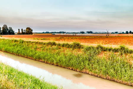 agriculture machinery: irrigation systems in modern agriculture - the modern machinery for irrigation related to ancient irrigation canals allow more effective management of water