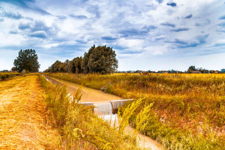 waters: Farming channel for the collection of the waters in the Italian countryside