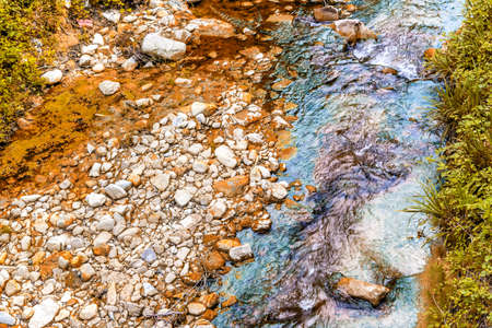 waters: the waters of the stream Tramazzo  in the countryside in Northern Italy