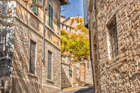 buiding: alley of medieval village in Italy
