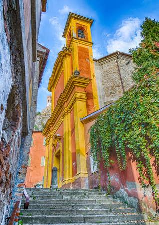 emilia romagna: alley  of Brisighella, hill village in Emilia Romagna in Italy Stock Photo