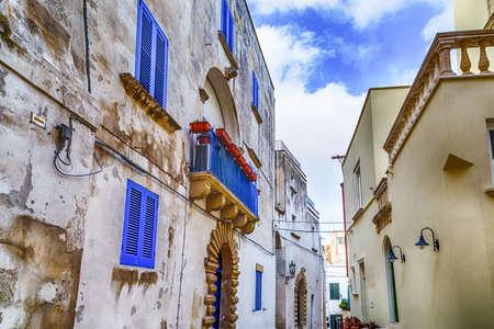 origins: narrow alleys in the historic center of Otranto, coastal town of Greek-Messapian origins  in Italy