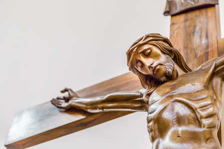 Celebrating the Good Friday, the Crucifixion of Jesus Christ nailed to the Holy Cross