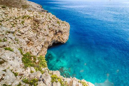 inlet bay: cove in the rocky beach on the Adriatic sea near Otranto in Apulia, Italy Stock Photo