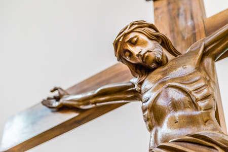 viernes santo: Celebración del Viernes Santo, la Crucifixión de Jesucristo clavado en la Santa Cruz