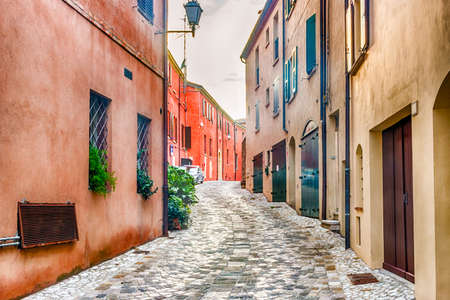 romagna: medieval streets of a small village in Emilia Romagna in Italy