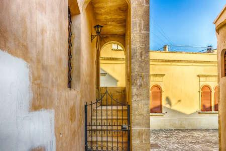 origins: narrow alley in the historic center of Otranto, coastal town of Greek-Messapian origins  in Italy