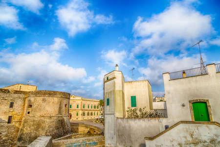 origins: The Castle of Otranto, coastal town of Greek-Messapian origins  in Italy