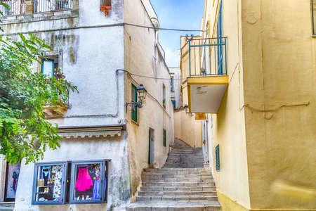 origins: shops in the historic center of Otranto, coastal town of Greek-Messapian origins  in Italy