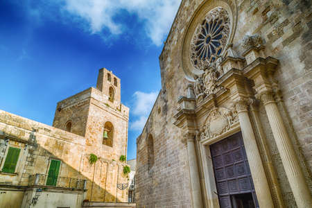 origins: The medieval Cathedral in the historic center of Otranto, coastal town of Greek-Messapian origins  in Italy
