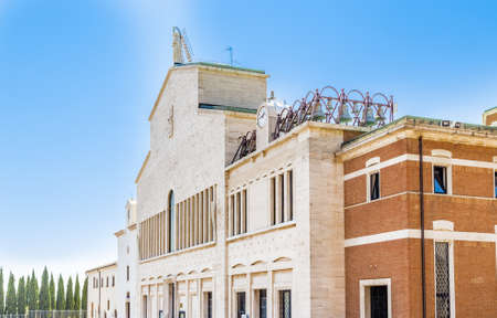 Exterior view of Church of Saint Mary of the Graces, in the Shrine of Saint Father Pious from Pietrelcina in San Giovanni Rotondo, in Apulia in Italy