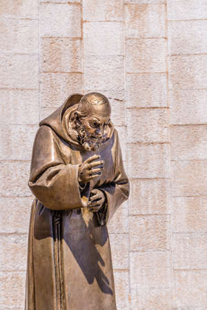 pious: Statue of Saint Father Pious in the Shrine in San Giovanni Rotondo, in Apulia in Italy