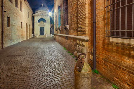 ravenna: The cobbled streets of Ravenna, the Byzantine city in Italy at night